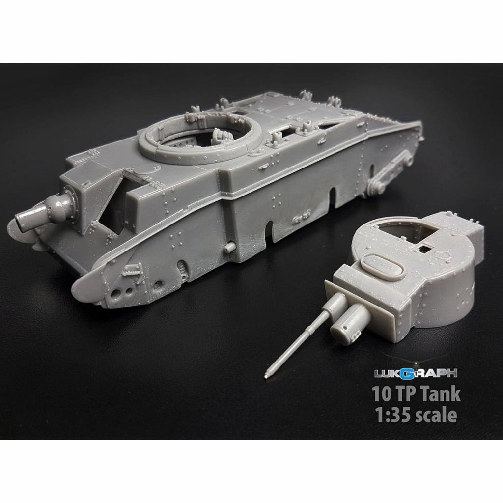 35-07 WWII ポーランド 10TP 戦車 w/フルインテリア