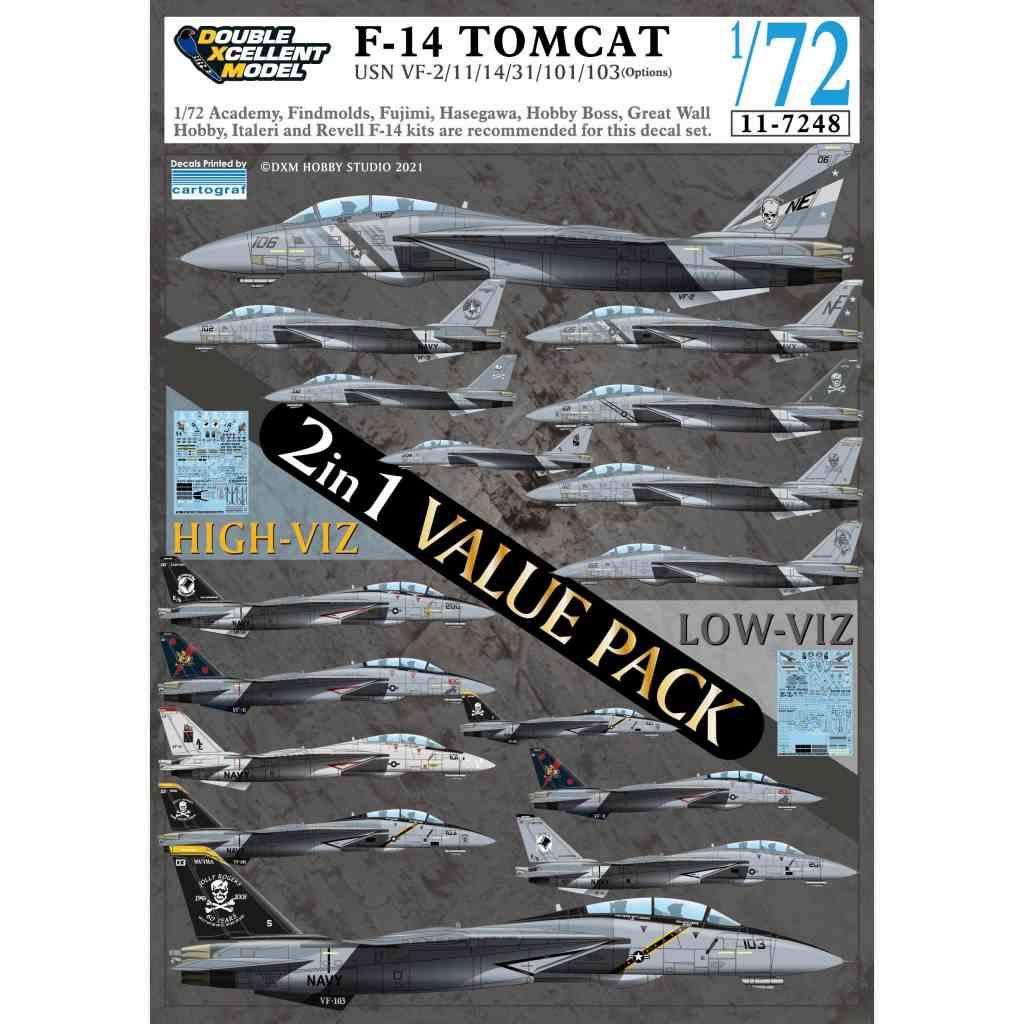 【新製品】11-7248 アメリカ海軍 F-14A/B/D トムキャット ハイビジ/ロービジ バリューパック