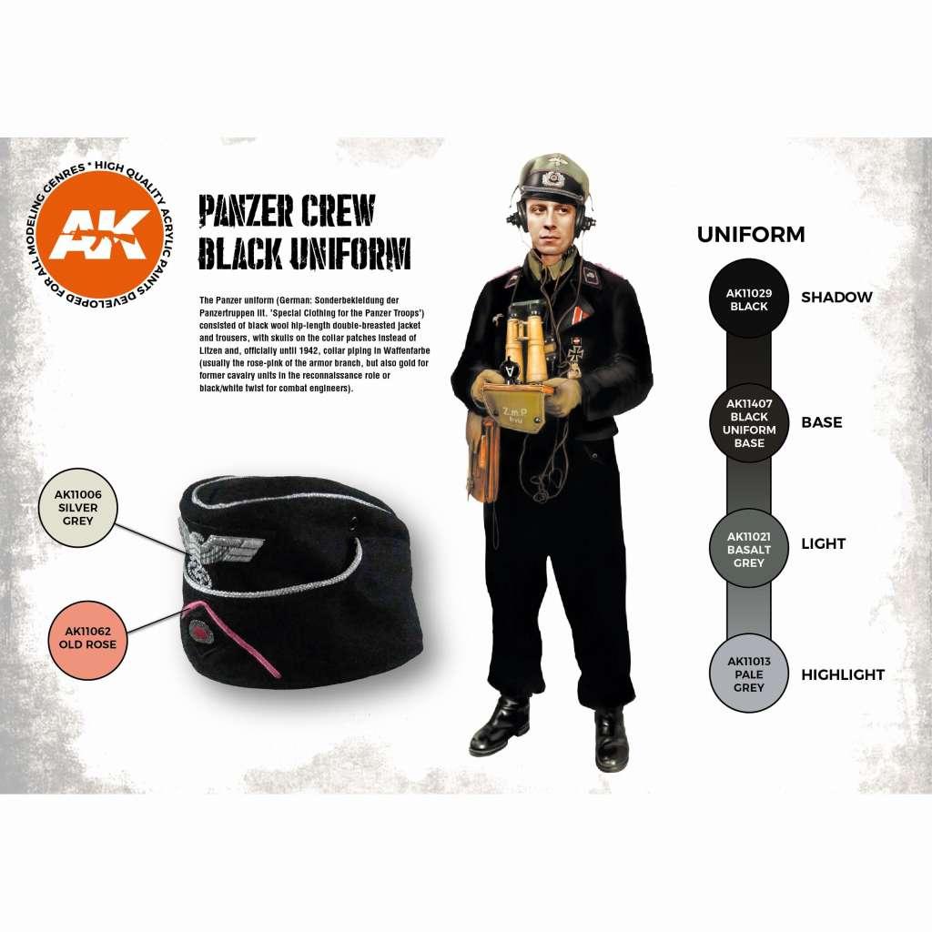 【新製品】AK11622 パンツァークルーブラックユニフォーム (17mlx6本) 【AKアクリル3G (サードジェネレーション)】