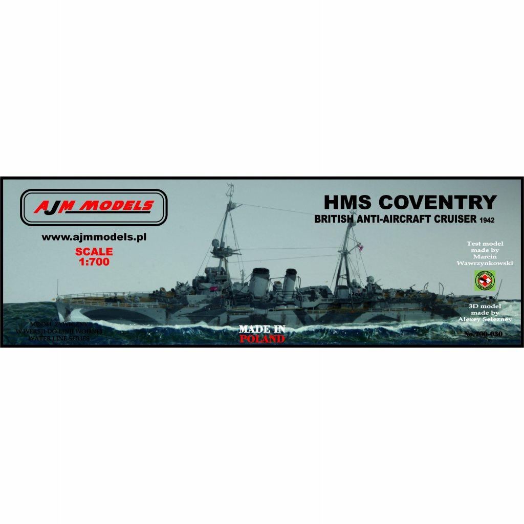 700-030 英海軍 防空巡洋艦 コヴェントリー Coventry 1942