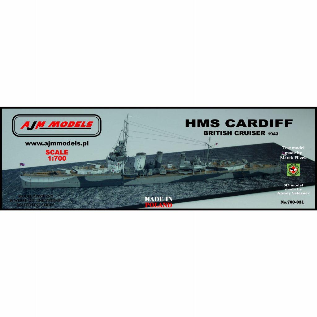 700-031 英海軍 巡洋艦 カーディフ Cardiff 1943