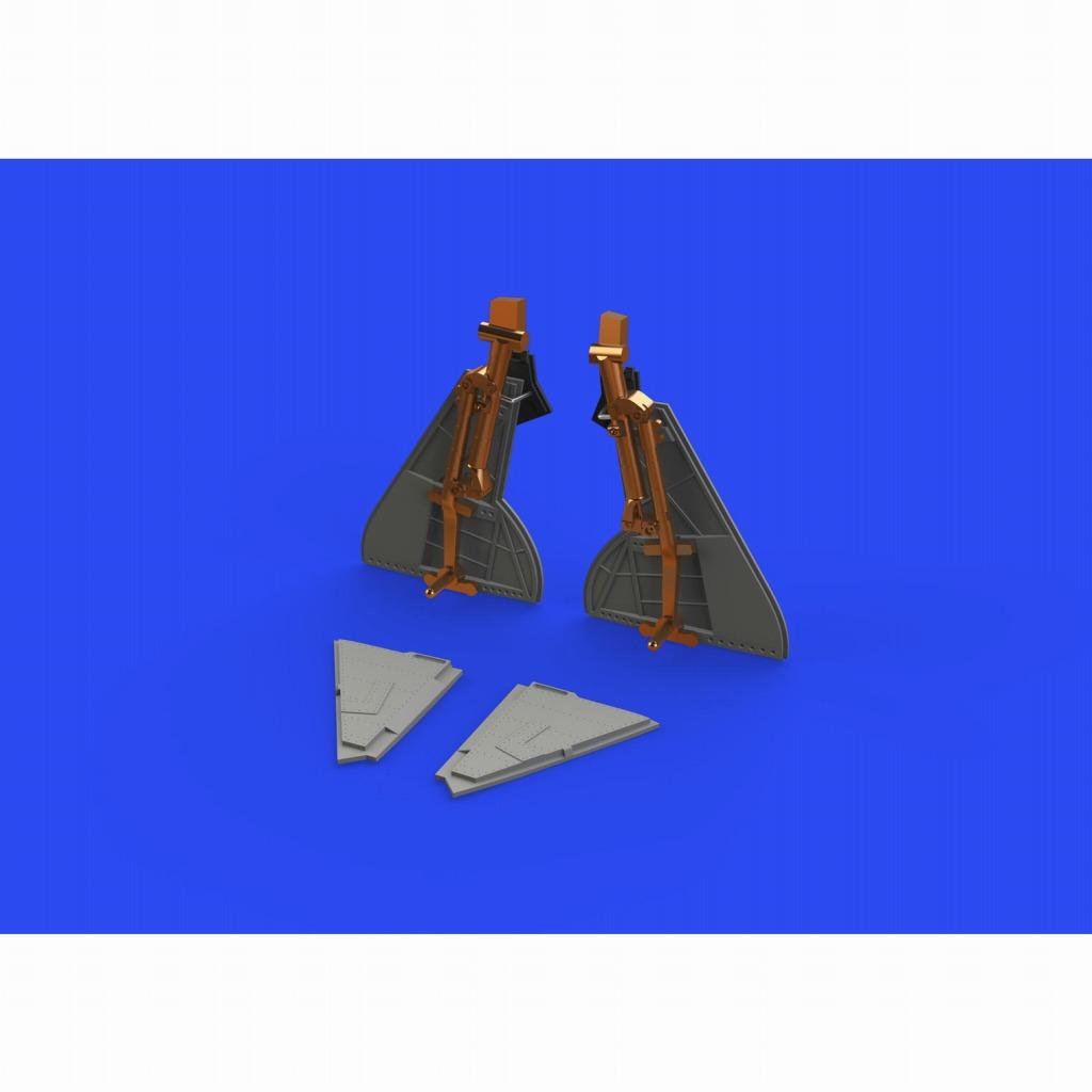 【新製品】ブラッシン648637 1/48 ホーカー テンペスト Mk.II ブロンズ製主脚 w/脚カバー (エデュアルド用)