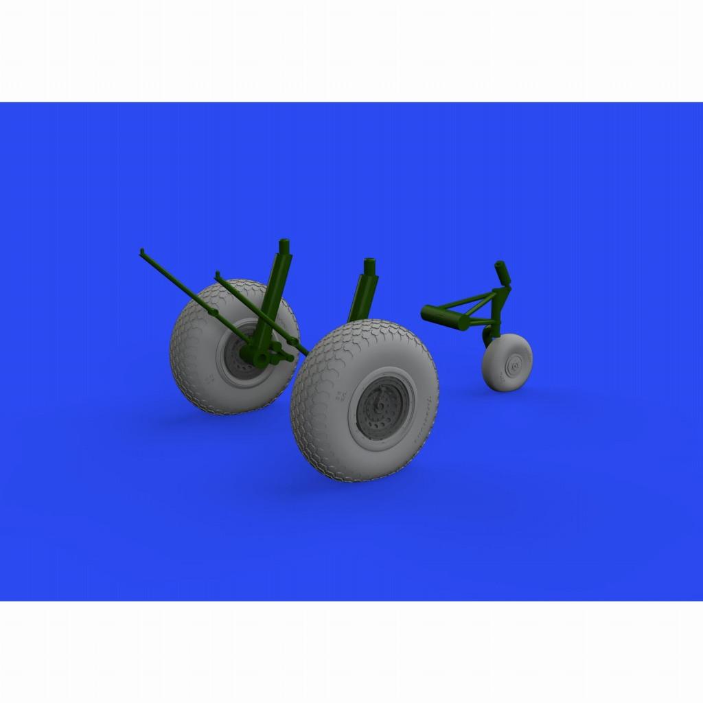 【新製品】ブラッシン648642 1/48 ボーイング B-17 フライングフォートレス ホイール (十字トレッド) (HKモデル用)
