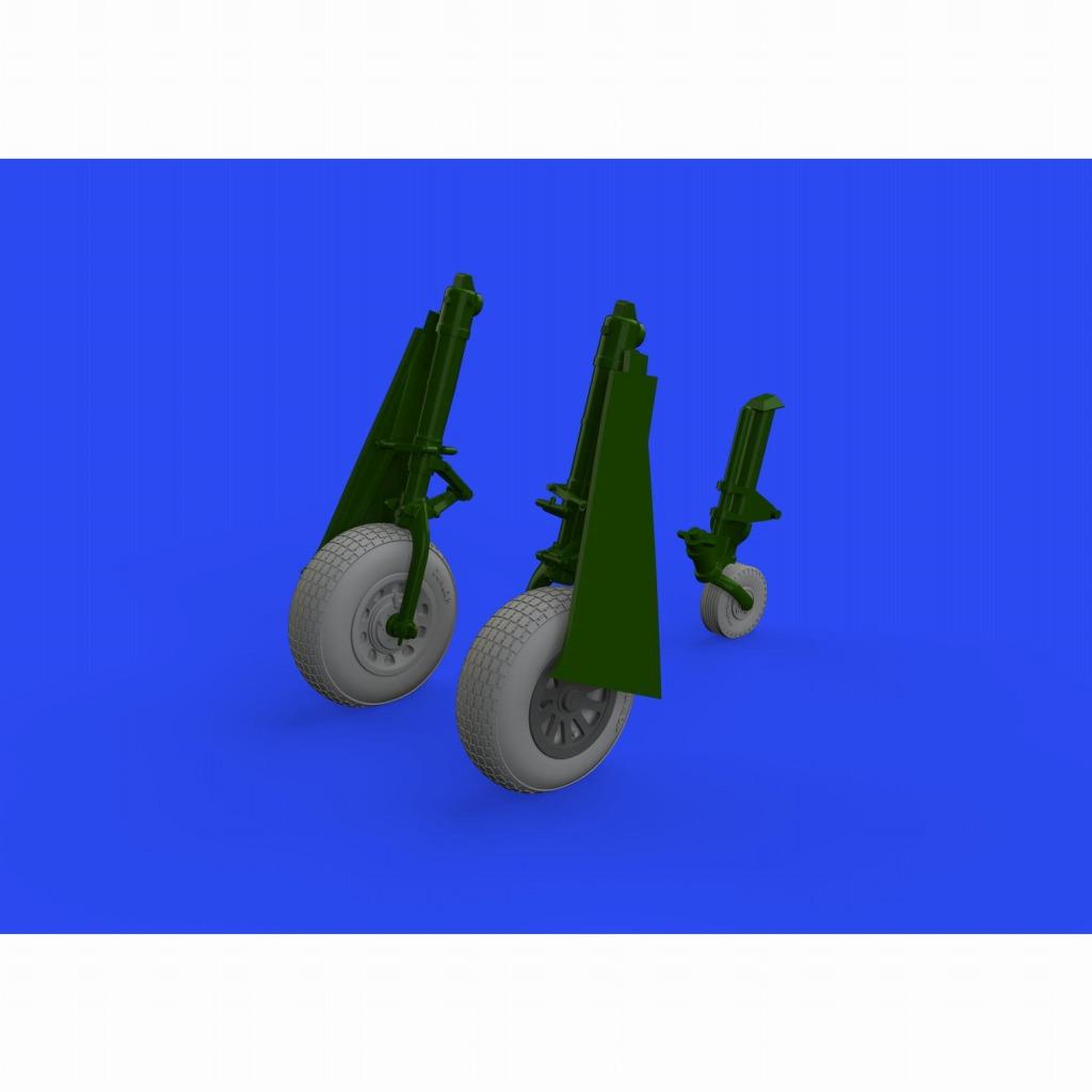 【新製品】ブラッシン648647 1/48 ノースアメリカン P-51D マスタング ホイール ブロックトレッドタイプ2 (エデュアルド用)