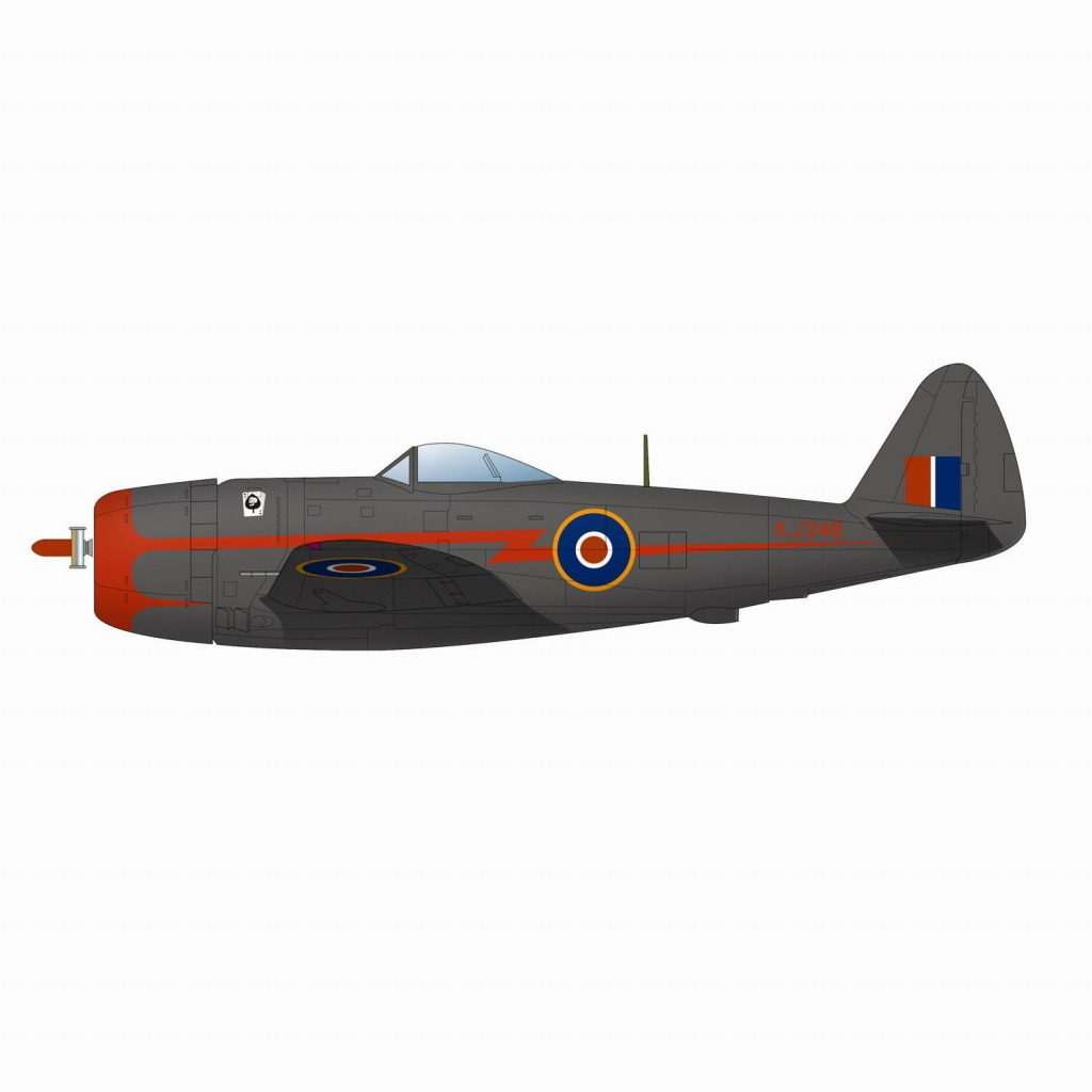"""【新製品】PDR-25 WWII イギリス空軍戦闘機 サンダーボルト Mk.II """"バブルトップ""""(2機セット)"""