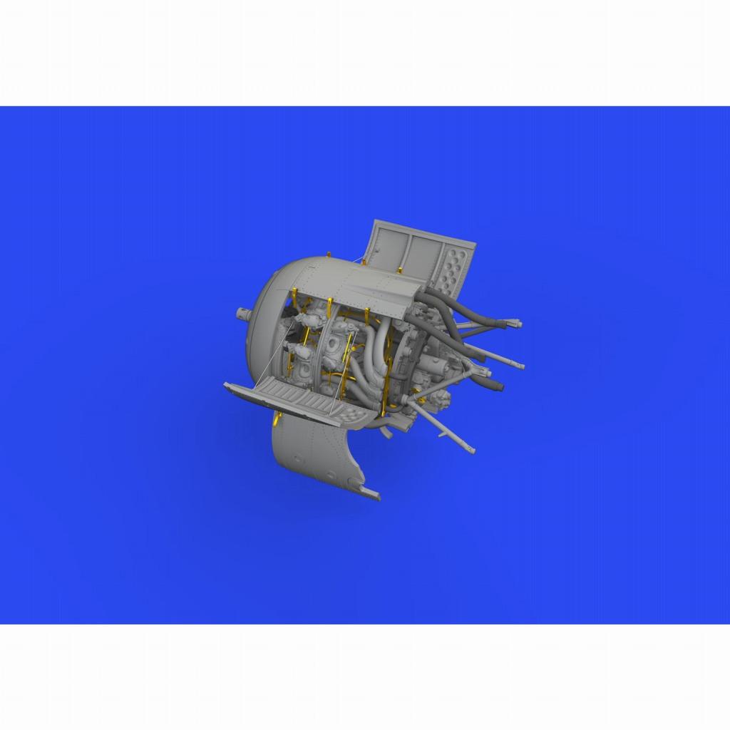 【新製品】ブラッシン648648 1/48 フォッケウルフ Fw190F-8 エンジン (エデュアルド用)