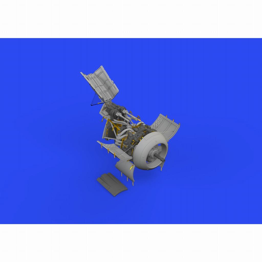 【新製品】ブラッシン648650 1/48 フォッケウルフ Fw190F-8 エンジン & 胴体内機銃 (エデュアルド用)