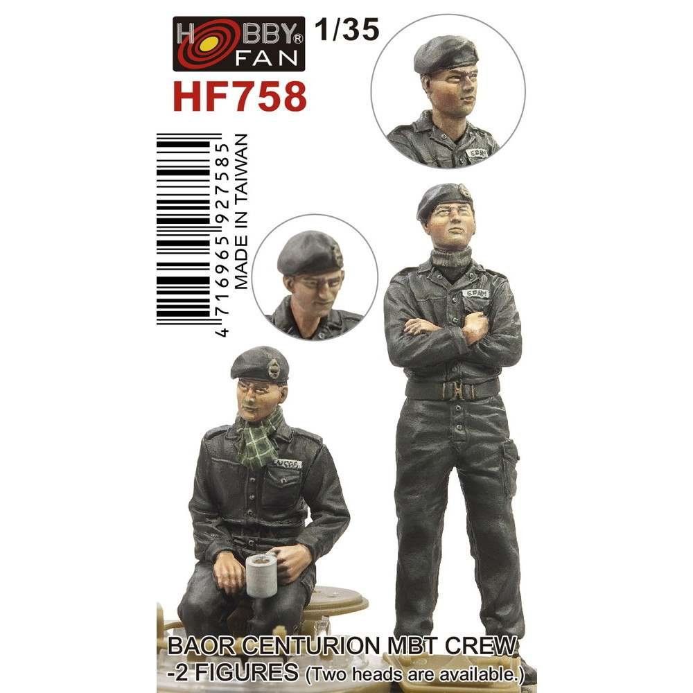 【新製品】HF758 1/35 イギリス陸軍ライン軍団 センチュリオン主力戦車クルー 2体入