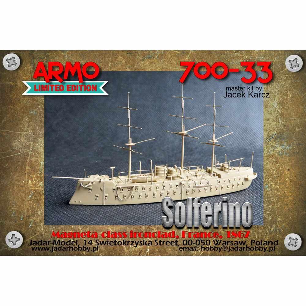 700-33 仏海軍 マゼンタ級装甲艦 ソルフェリーノ Solferino 1867