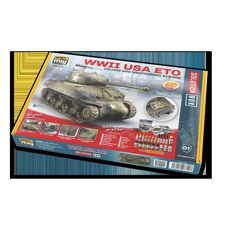 A.MIG7700 ソリューションボックス:WWII ヨーロッパのアメリカ軍車両