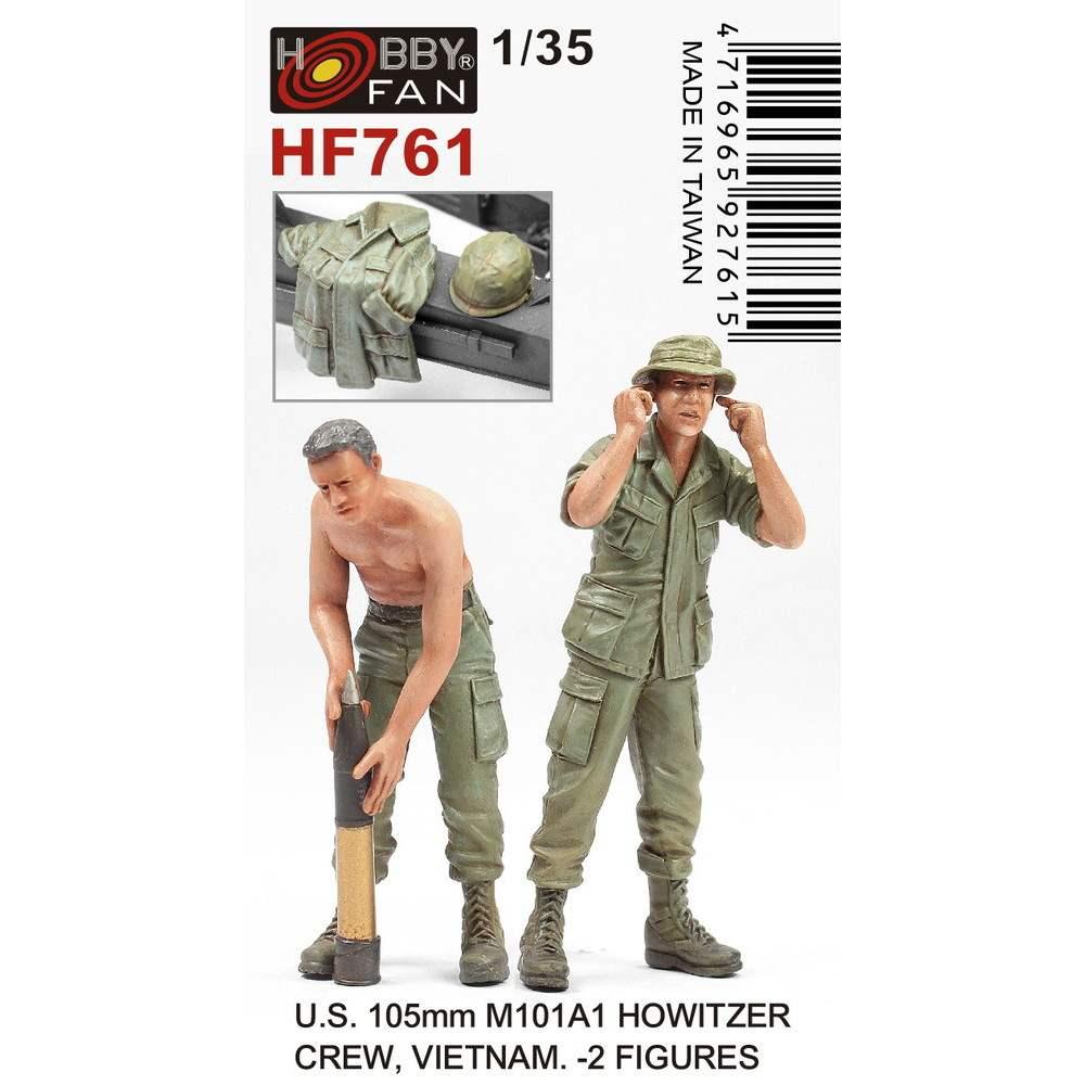 【新製品】HF761 1/35 アメリカ陸軍 M101A1 105mm 榴弾砲クルー 2体入(ベトナム戦争)