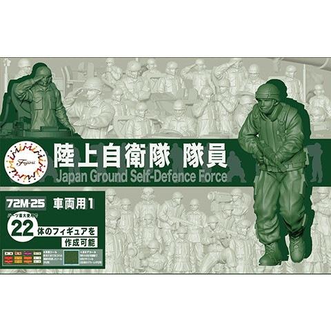 【新製品】72M-25 陸上自衛隊隊員(車両用1)