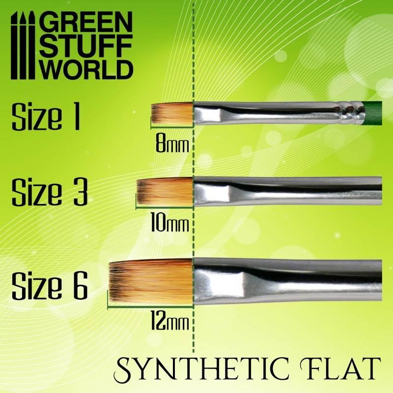 GSWD-2456 グリーンシリーズ 合成毛 平筆 サイズ 6