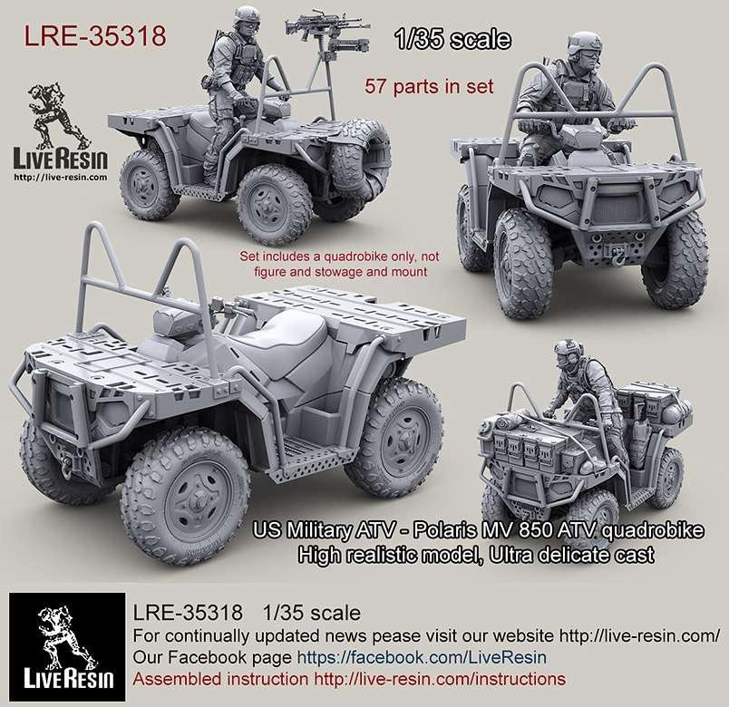 LRE-35318 現用アメリカ ATV ポラリス MV 850 全地形対応車