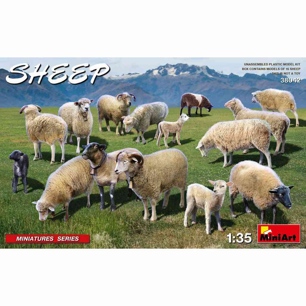 【新製品】38042 羊 15頭セット