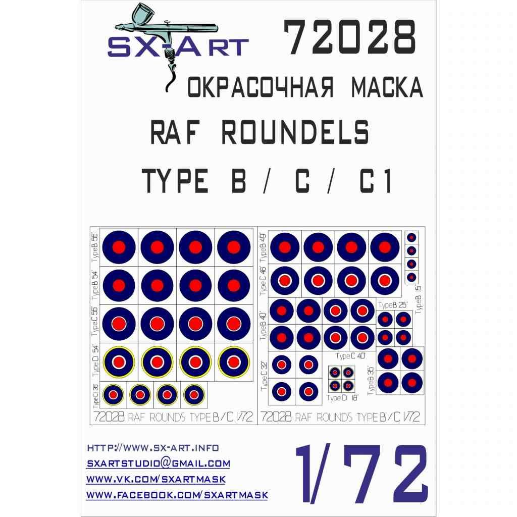 SX-Art SXA72028 イギリス空軍国籍マーク ラウンデル タイプB/C/C1 マスキングシール