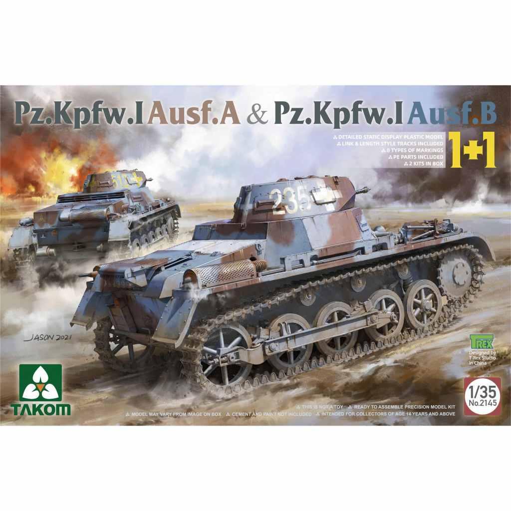 【予約受付中】2145 1/35 I号戦車A型 & B型 2キットセット