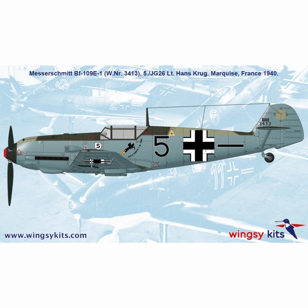 【予約受付中】D5-07 メッサーシュミット Bf109E-1 エミール