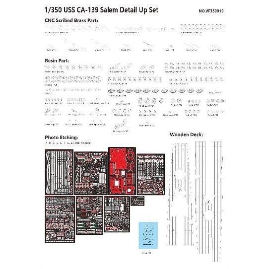 箱傷みあり VFM350919DX 米海軍 重巡洋艦 CA-139 セーラム DXキット