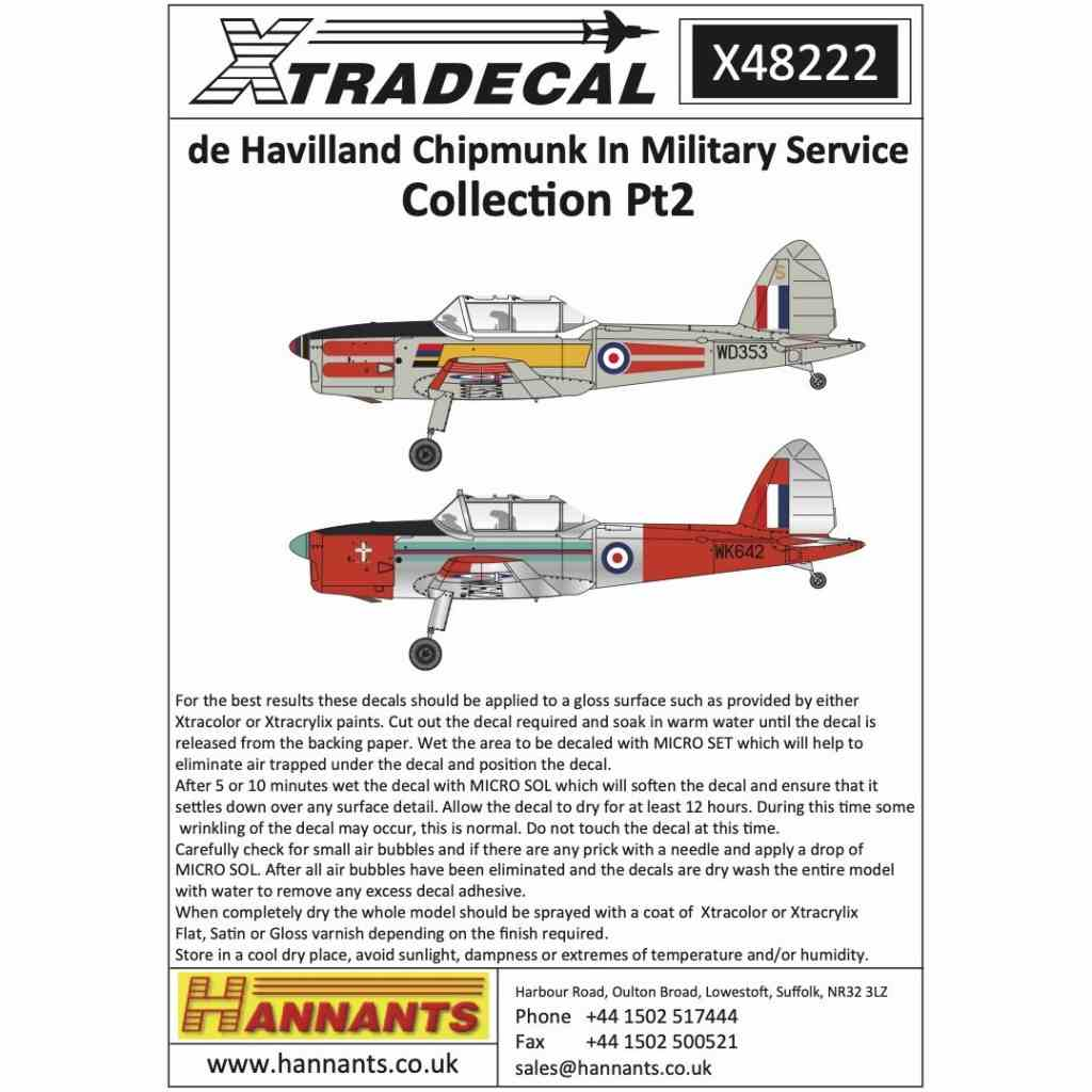 【新製品】X48222 デ・ハビランド チップマンク 軍用型 Pt.2