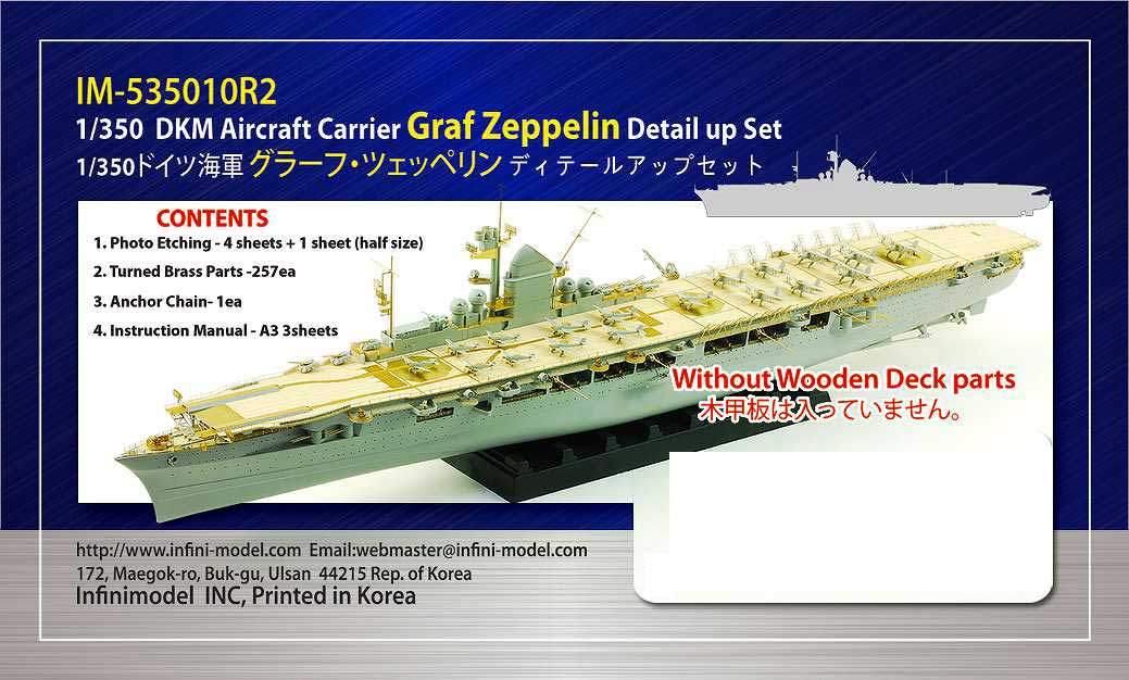 IM-535010R2 ドイツ海軍 航空母艦 グラーフ・ツェッペリン ディテールアップセット 木製甲板無し