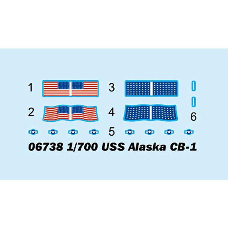 【予約受付中】06738 アメリカ海軍 大型巡洋艦 CB-1 アラスカ