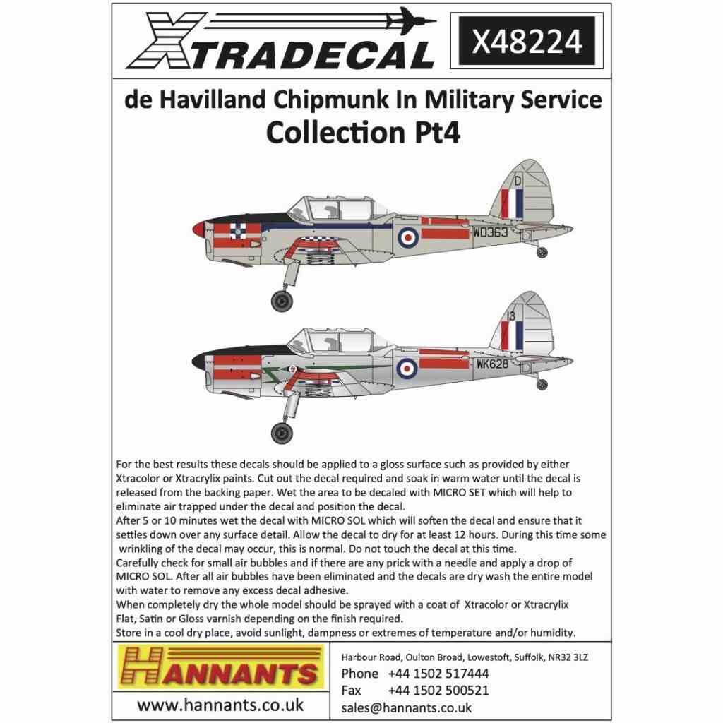 【新製品】X48224 デ・ハビランド チップマンク 軍用型 Pt.4