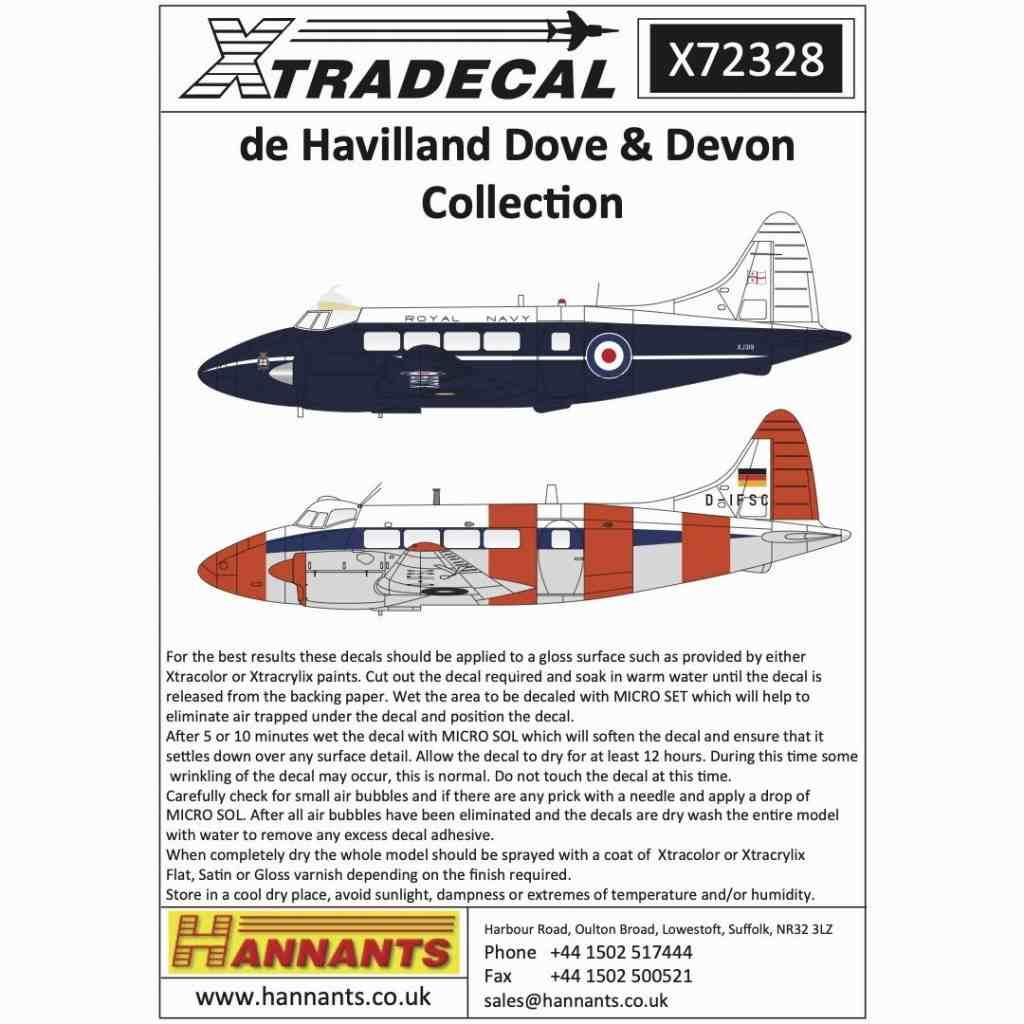 【新製品】X72328 デ・ハビランド ダブ&デボン コレクション