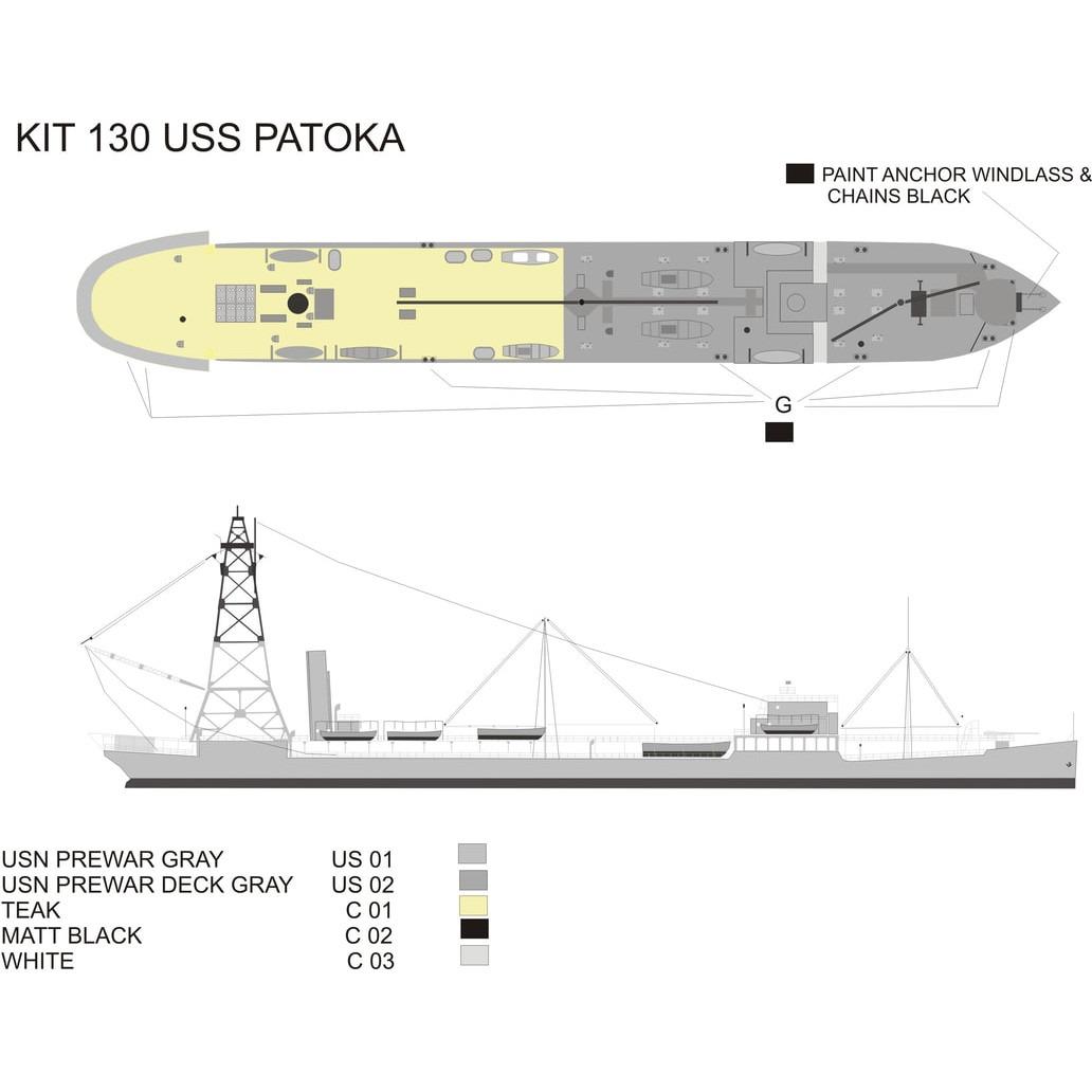 130 米海軍 給油艦 AO-9 パトカ Patoka