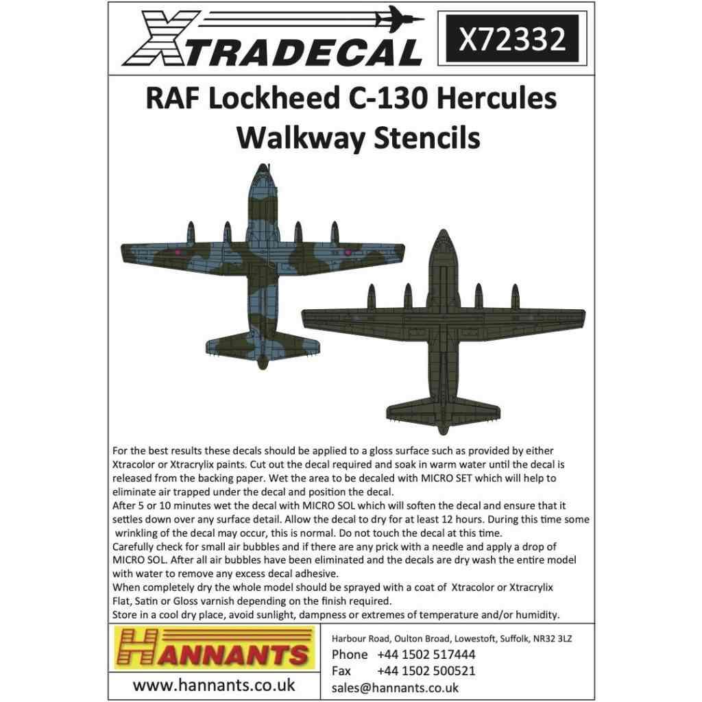 【新製品】X72332 イギリス空軍 ロッキード C-130 ハーキュリーズ ウォークウェイステンシル