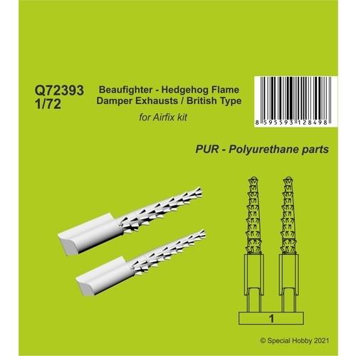 【新製品】Q72393 ボーファイター ヘッジホッグ 消炎排気管 (英軍式) (エアフィックス用)