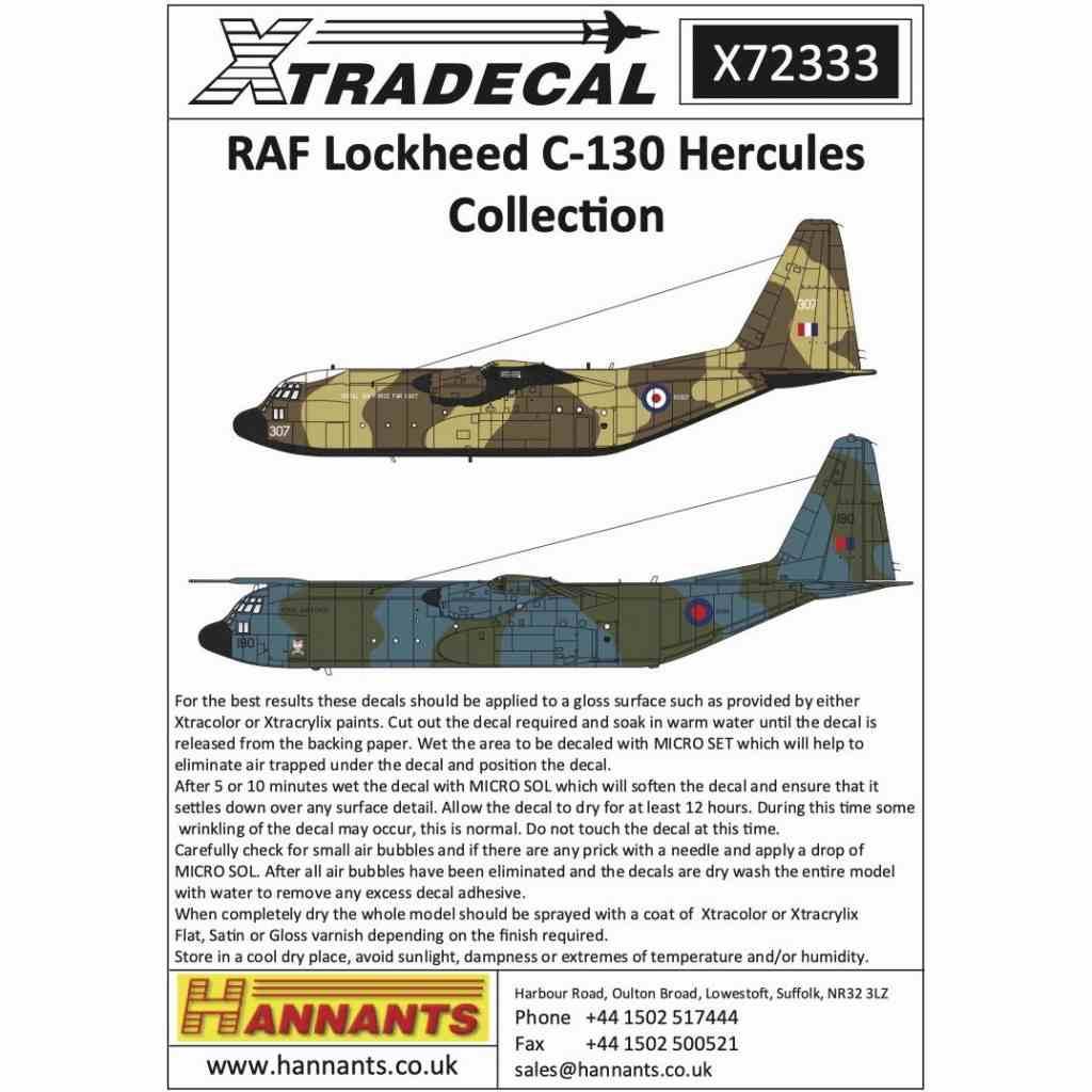 【新製品】X72333 イギリス空軍 ロッキード C-130 ハーキュリーズ コレクション