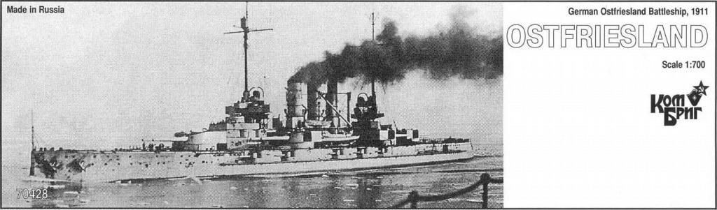 70428 独海軍 ヘルゴラント級戦艦 オストフリースラント Ostfriesland 1911