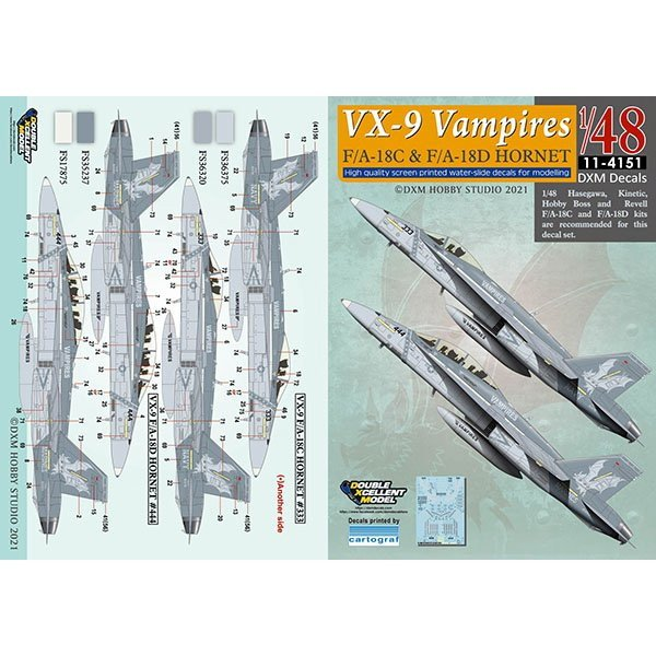 【新製品】11-4151 1/48 F/A-18C & F/A-18D ホーネット VX-9 ヴァンパイヤーズ バリューパック