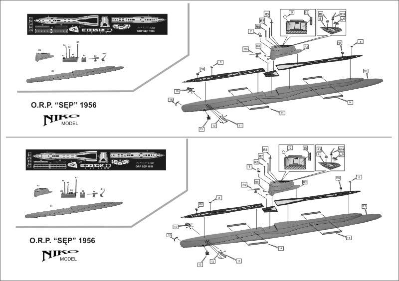 7010 ポーランド海軍 オジェウ級潜水艦 セプ SEP 1956