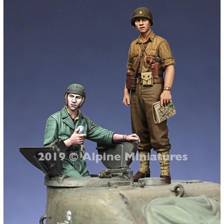 35271 WWII 米 暑さで腕捲りした夏場の米戦車兵セット(2体入り)