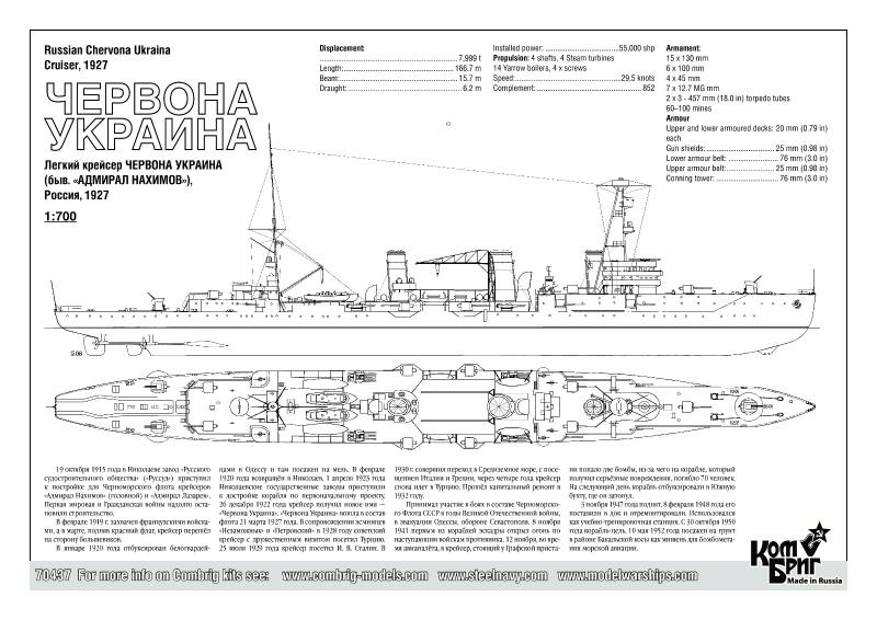 【再入荷】70437 ソ連 軽巡洋艦 チェルヴォナ・ウクライナ Chervona Ukraina 1927