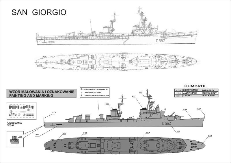7012 カピターニ ロマーニ級軽巡洋艦 サン ジョルジョ(II) San Giorgio