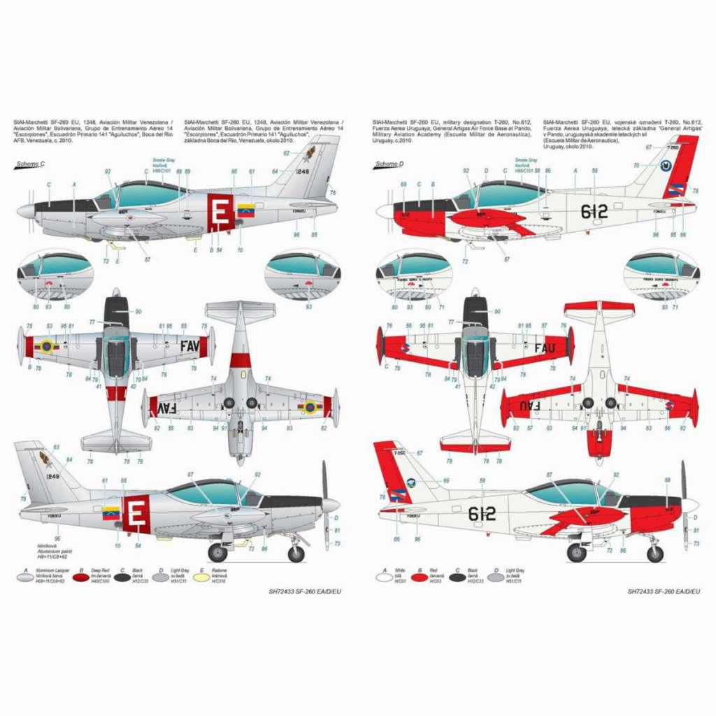 【新製品】72433 SIAI-マルケッティ SF-260EA/D/EU「後期セミバブルキャノピー型」
