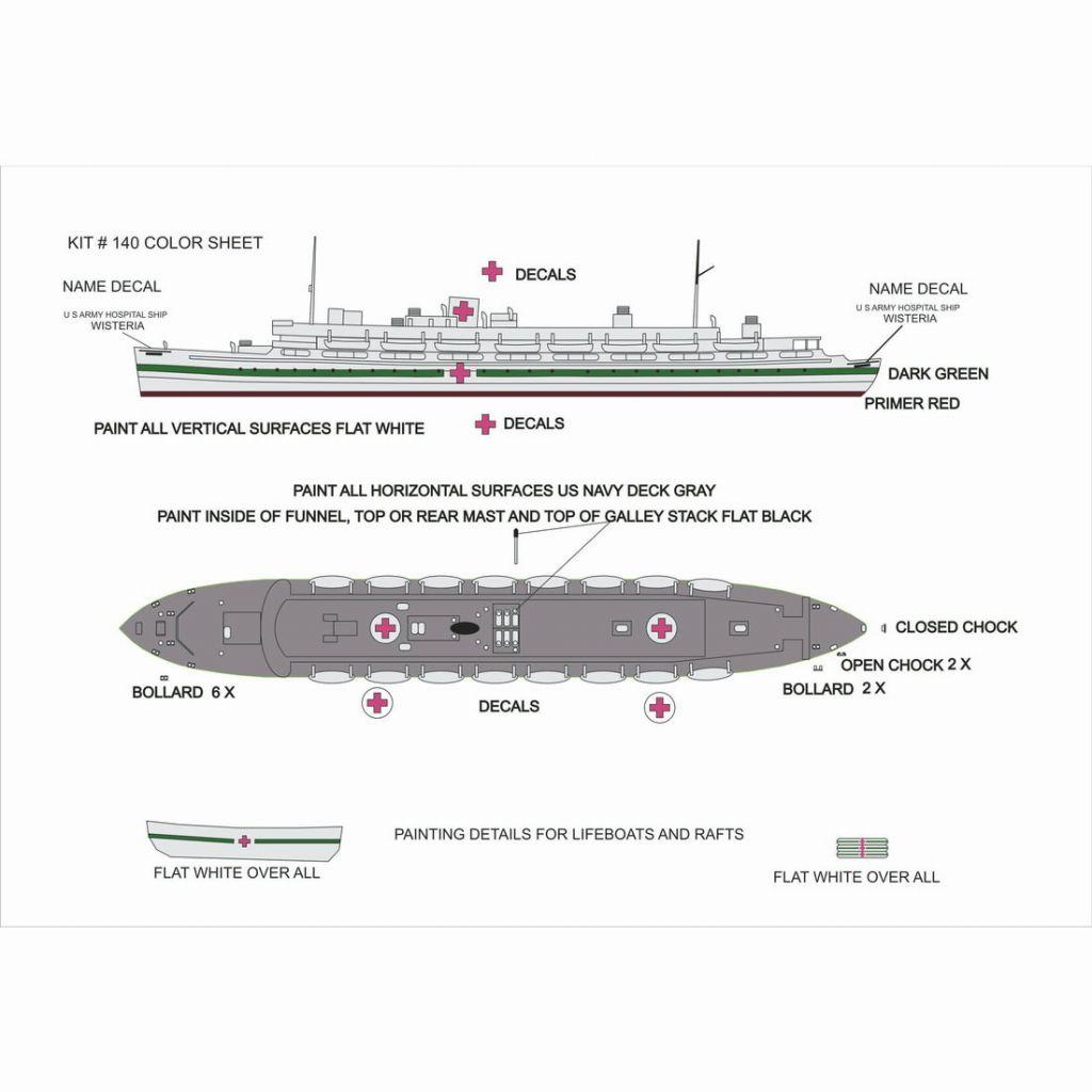 140 米陸軍 病院船 ウィステリア Wisteria