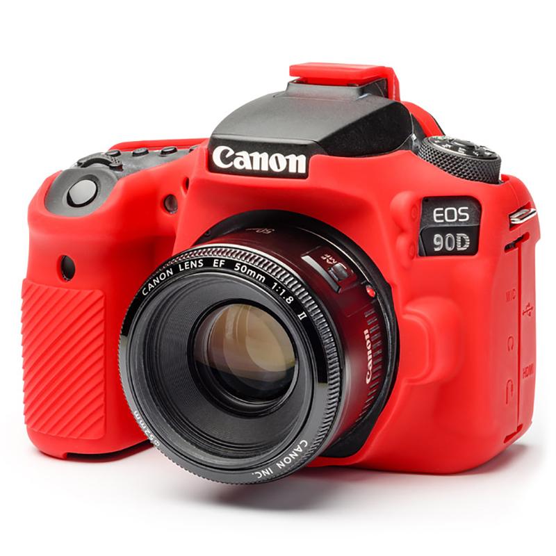 イージーカバー Canon EOS 90D 用 レッド 液晶保護フィルム付属