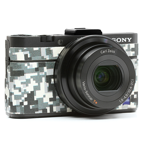 ソニーCyber Shot RX-100MII用張り革キット 8500 デジタル迷彩