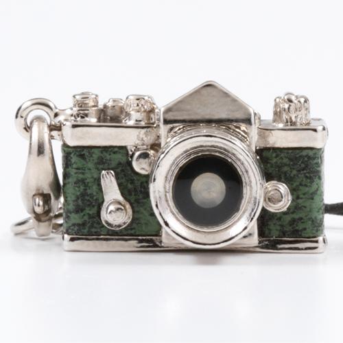 ミニチュアカメラストラップ 一眼レフタイプ グリーン