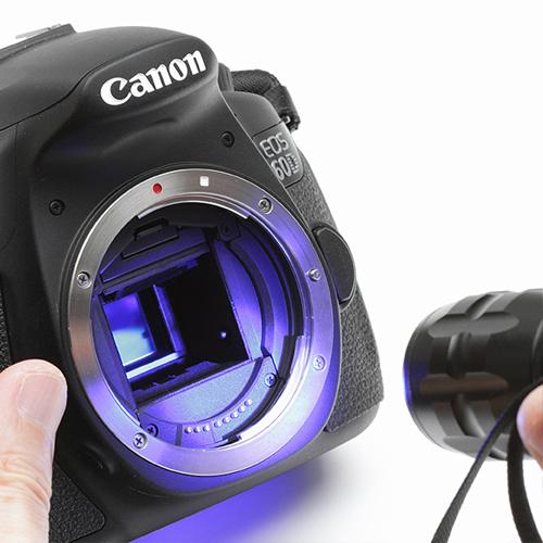 カメラ傷見・歪み検査用青色LEDライト