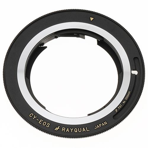 Rayqual 日本製レンズマウントアダプター<EOSマウントボディ>Contax/Yashicaトレンズ/CY-EOS
