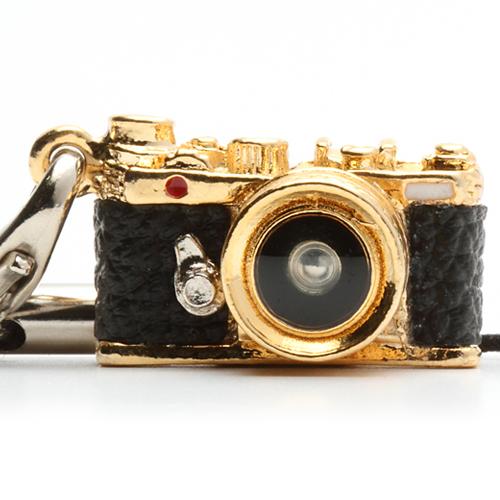 ミニチュアカメラストラップ レンジファインダータイプ ゴールド