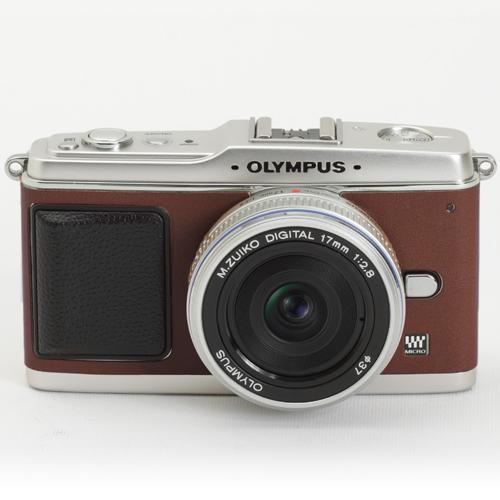 OLYMPUS ペン E-P1/E-P2 張り革キット<8080 ウッドブラウン>