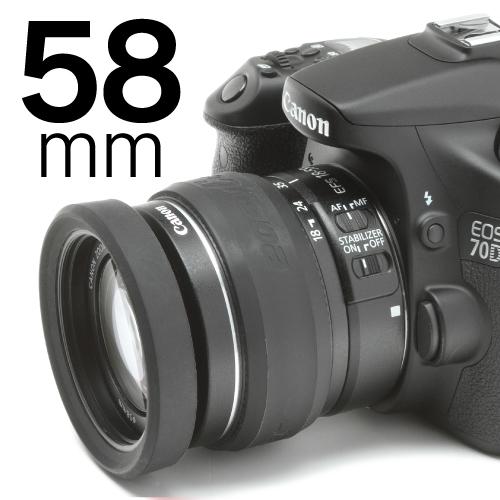 イージーカバー レンズリム58mm(リング+バンパー)ブラック