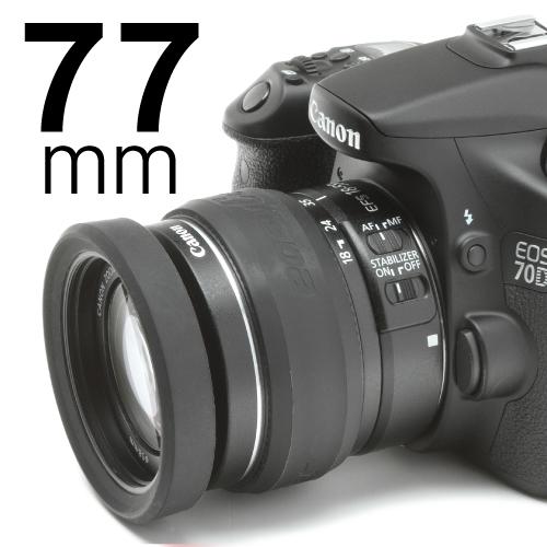 イージーカバー レンズリム77mm(リング+バンパー)ブラック