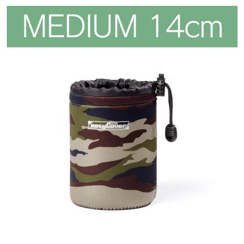 イージーカバー ネオプレーン レンズポーチ MEDIUMサイズ 14cm 【カモフラージュ】